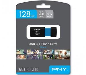 PNY 128GB Elite-X USB 3.1 Flash Drive P-FD128ELX-GE, Read 200MB/s Write 100MB/s