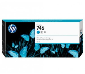 Hp 746 300-ml Cyan Ink Cartridge P2v80a