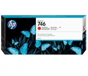 Hp 746 300-ml Chromatic Red Ink Cartridge P2v81a