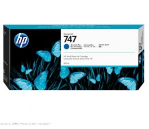 Hp 747 300-ml Chromatic Blue Ink Cartridge P2v85a