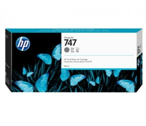 Hp 747 300-ml Gray Ink Cartridge P2v86a