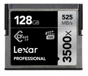 Lexar Professional 3500x 128gb Cf Compact Flash Card - Upto 525mb/ S Lc128crbap3500
