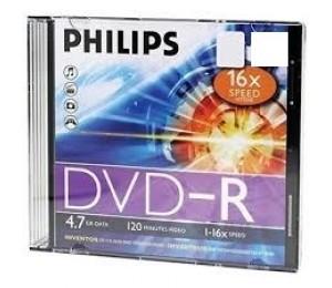 Philips Dvd-r 1-16x Jewel Case 4.7gb Dvd-r-jc