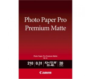 CANON PM101A4 PM-101 A4, 20 SHEETS, 210GSM, PHOTO PAPER PRO PREMIUM MATTE, SMOOTH TEXTURE WITH WARM WHITE TONE FOR PRINTS WITHOUT THE REFLECTI PM101A4