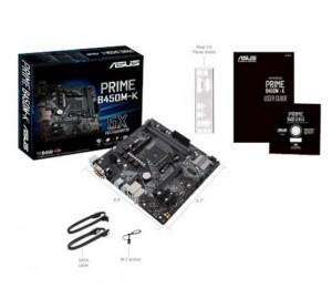 Asus Prime-b450m-k Am4 M-atx Motheboard - Amd B450 Chipset - 2x Dimm Ddr4 Up To 32gb - 4 X Satas - Raid 0/1/10 - Realtek Rtl8111h Prime B450m-k