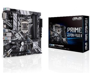Asus Prime-z370m-plus-ii Lga 1151 M-atx Motherboard - Intel 370 Chipset - 4x Dimm Ddr4 Up To 64gb