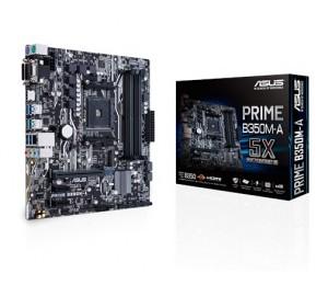 ASUS MB: AMD B350 AM4 Socket 4 DIMMs DDR4 USB 3.1 Type-A 6x SATA M.2 Realtek Gigabit LAN LED lighting