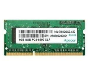 Apacer Ddr3 Sodimm Pc8500-1gb 1066mhz Samsung Original 70451