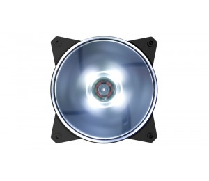 COOLER MASTER MASTERFAN MF120L 120MM WHITE LED FAN 1200 RPM R4-C1DS-12FW-R1