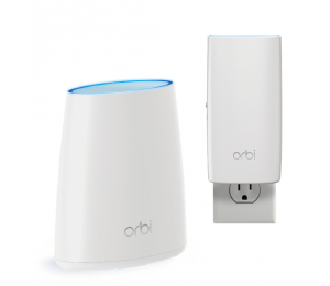 Netgear Orbi Whole Home Ac2200 Tri-band Wifi System (wifi Router & Wall Plug Satellite) Rbk330-100aus