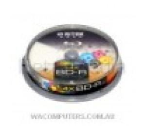 Ritek Blu-ray 25gb 130min 25pk Spindle White Wide Inkjet 1--6x Rebd-r4xwt25