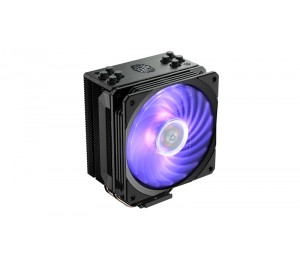 Cooler Master Hyper 212 Rgb Black Edition Cpu Air Cooler 4 Direct Contact Heatpipes 120Mm Rgb