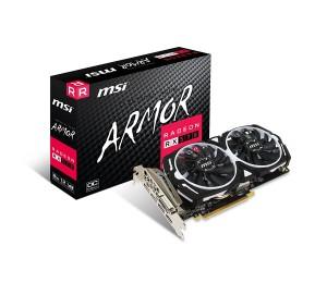 Msi Amd Rx 570 Armor 8gb Oc Video Card Radeon Rx 570 Armor 8g Oc