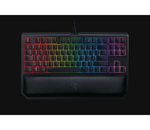 Razer Mechanical Keyboard: Blackwidow Toumament Edition Chroma V2 Yellow Switch Rgb Gaming Keyboard