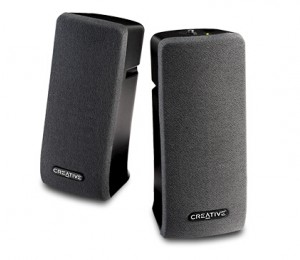 Creative Speaker: 2.0, Black, 1Wx2 RMS/ Channel, Built-in Bass Port, Magnetically Shielded, 70db