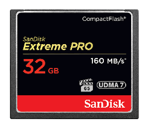 Sandisk Extreme Pro Cf Cfxps 32gb Vpg65 Udma 7 160mb/s R 150mb/s W 4x6 Lifetime Limited Sdcfxps-032g-x46
