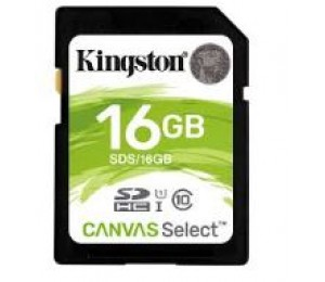 Kingston 16gb Sdhc Canvas Select 80r Cl10 Uhs-i Sds/16gb