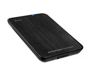 "Sharkoon Quickstore Portable Usb3.0 For 2.5"" Sata Hdds/ Ssds Enclosure (9.5mm) Qstore-usb3"