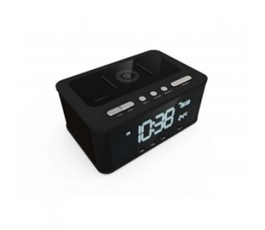 Laser Qi Wireless Charging Alarm Clock Bluetooth Speaker Spk-qc001