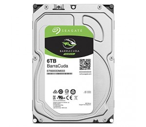 "SEAGATE BARRACUDA DESKTOP INTERNAL 3.5"" SATA DRIVE 6TB 6GB/s 5400RPM 2YR WTY ST6000DM003"