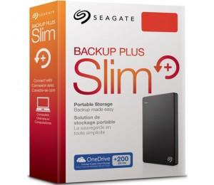 "Seagate PORTABLE 2.5"" DRIVE: 2TB BACKUP PLUS USB3.0 SLIM TUXEDO BLAC 2TB STDR2000300"