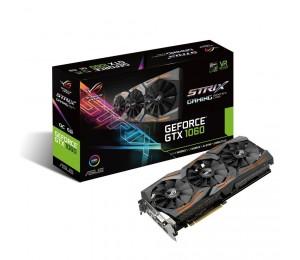Asus Nvidia Strix-gtx1060-6g-gaming Pcie Card Gddr5 8k 7680x4320 2xdp 2xhdmi 1xdvi Strix-gtx1060-6g-gaming