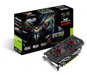 ASUS GTX 1060 GDDR5 6GB VR Ready Overclock Mode PCI Express 3.0 Base Clock 1595MHz 7680x4320 1