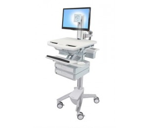 ERGOTRON STYLEVIEW CART WITH LCD PIVOT 2 DRAWERS SV43-1320-0