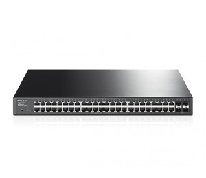 TP-LINK T1600G-52PS JetStream 48-Port Gigabit Smart PoE+ Switch with 4 SFP (TL-SG2452P) T1600G-52PS