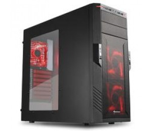 "Sharkoon Mid Tower Case: 2x 5.25"" drive bays (external) 6x 3.5"" bays for HDDs &2x 2.5""/3.5"" bays"