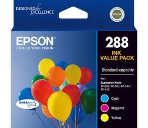 EPSON 288 3 colour ink pack - XP-240 XP-340 XP-440 C13T305592