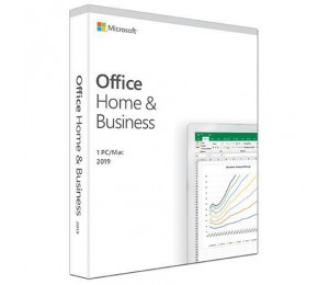 Microsoft Office 2019 Home & Business Retail Software 1 User - Medialess V2 T5D-03251