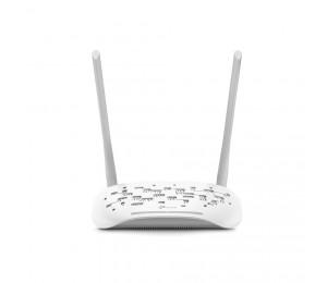 TP-Link VDSL ADSL Modem Router :Wireless N300 300Mbps @ 2.4GHz 3x100Mbps LAN 1xWAN 1xRJ11 2xAntenna