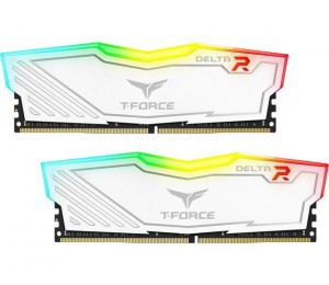 Team Delta Rgb 16Gb (2X8Gb) Ddr4 3000Mhz White Tf4D416G3000Hc16Cdc01