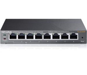 Tp-link 8-port Gigabit Desktop Poe Easy Smart Switch Tl-sg108pe