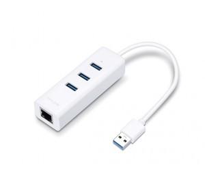 TP-LINK UE330, USB 3.0 3-PORT HUB & GIGABIT ETHERNET ADAPTER 2IN1 USB ADAPTER UE330