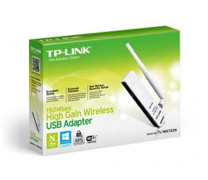 TP-Link WN722N 150M Lite-N High Gain Wireless USB Adapter With Detachable Antenna, Atheros TL-WN722N