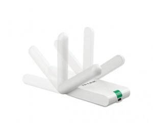 TP-Link USB Adapter: 300Mbps High Gain Wireless N Atheros, 2T2R, 2.4GHz, 802.11n/ g/ b, desktop housing