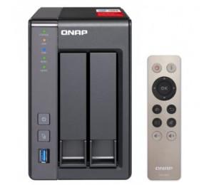QNAP TS-251+-8G NAS 2BAY (NO DISK) 8GB CEL QC-2.0GHz USB GbE(2) TWR 2YR TS-251+-8G