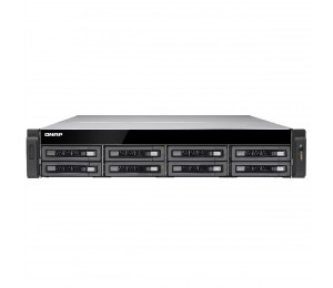 QNAP TS-EC880U-4G-R2, 8 BAY RACK NAS + SEAGATE ENT 8 X 10TB(ST10000NM0086) HDD+RAIL TS-EC880U-R2-SG80