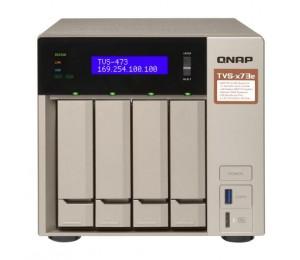 "QNAP TVS-473e-4G 4-Bay NAS AMD RX-421BD 2.1~3.4 GHz 4GB DDR4 RAM (max 64GB) 4x 2.5""/ 3.5"" + 2x"