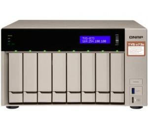 Qnap Tvs-873e-8g 8 Bay Nas (no Disk) M.2 Ssd Slot(2) Rx-421bd 8gb Gbe(4) Hdmi Twr 2yr Tvs-873e-8g