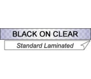 Brother: 12mm BLACK on CLEAR TZE Tape x 8m TZE-131