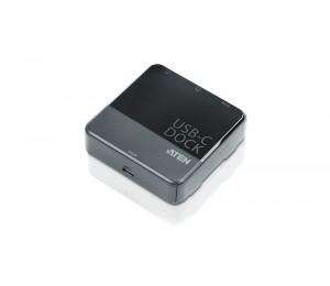 Aten (UH3231-AT) USB-C Dual-View Mini Dock. Dual DisplayPort Single View:3840*2160@30 Dual View: