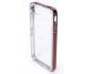 iWALK CASE for APPLE iPHONE 4 iPHONE 4S in RETAIL PACKAGING MATAL & Crystal Brown UNS001 (Metal-Brown)