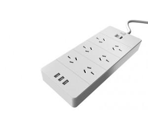 AeroCool Power Board W/ 6 Ac Outlet And 3 Usb Charging Ports 5V/ 2.4A Ls (QA6A3U2)