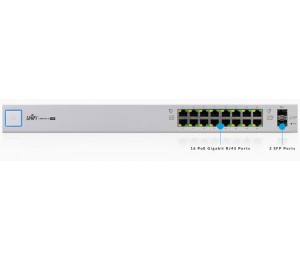 Ubiquiti Unifi Switch 16 Ports Managed Poe+ Gigabit Switch With Sfp Us-16-150w