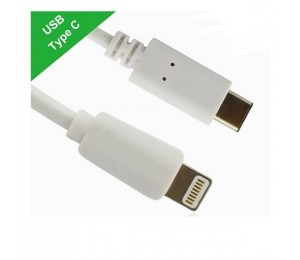 Generic USB-C Type-C to Apple Lightning cable male to male for iphone 5 6 7 plus 1m White CB