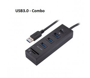 Ezcool Usb3.0 Hub 3 Port With Switch + Card Reader Usbinthub3pswu3cr