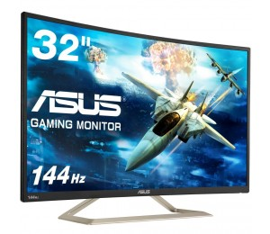 ASUS VA326H 32IN VA CURVED FHD 1920X1080 (UP TO 144HZ) HDMI/D-SUB 2W X 2 STEREO RMS AND 3.5MM